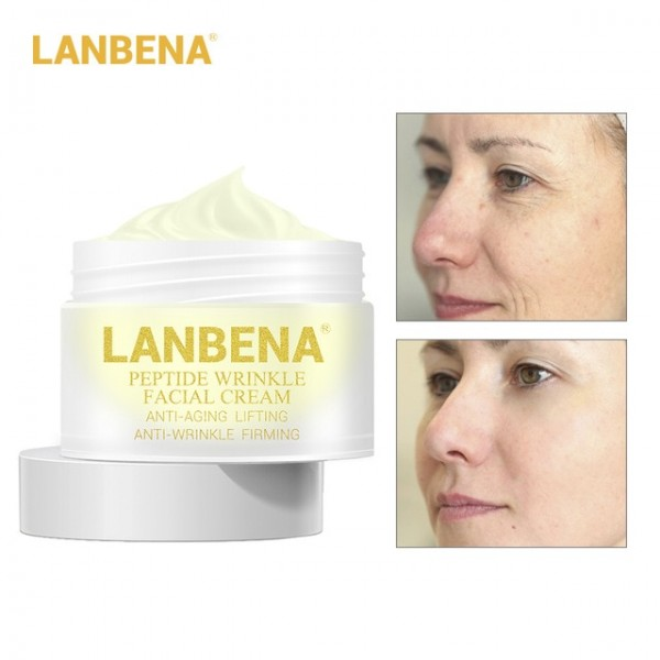 Крем для лица с пептидами Lanbena Peptide Anti Wrinkle Facial Cream, 30 гр