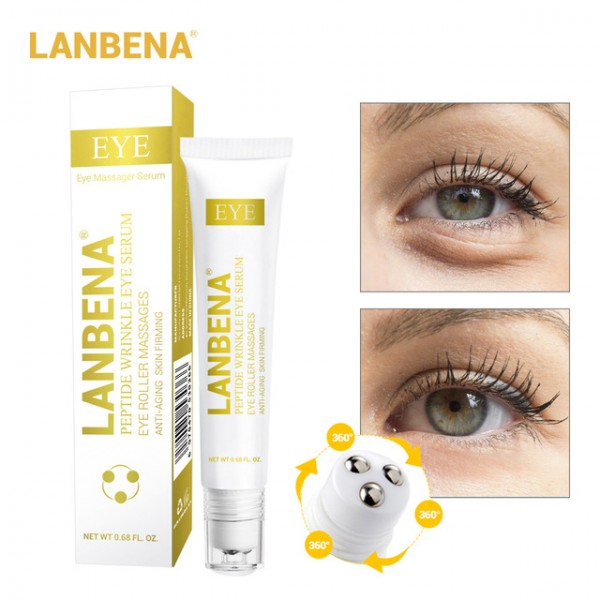Серум для области вокруг глаз от морщин с пептидами Lanbena Peptide Wrinkle