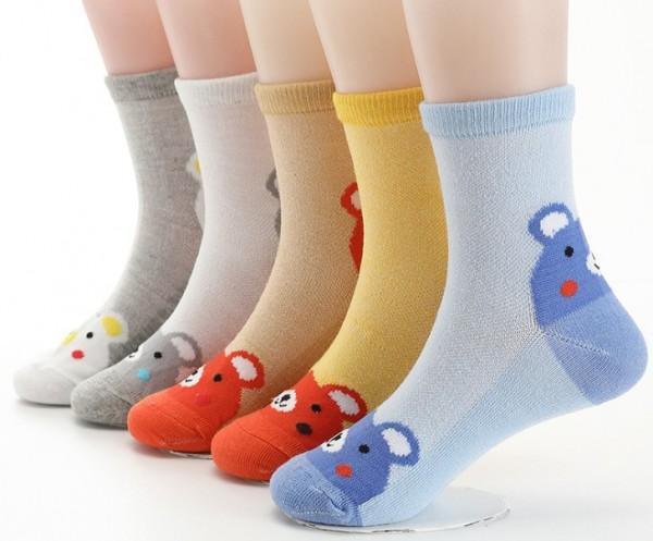Носки детские в сетку Мишка, р-р M, 14 см (4-6л)