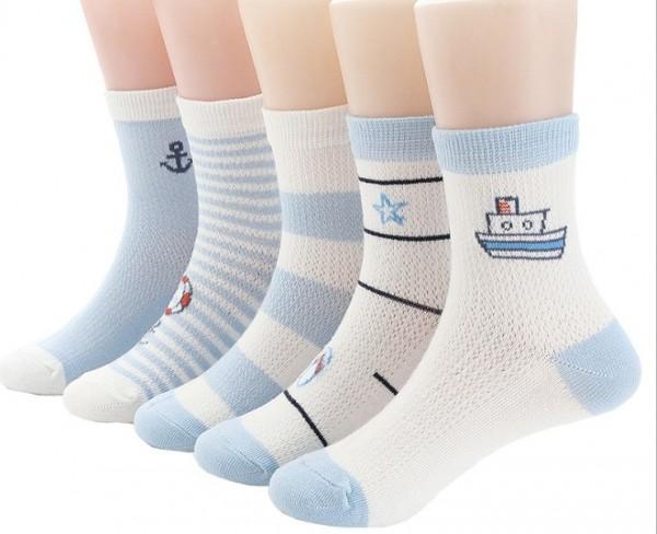 Носки детские в сетку Моряк, р-р S, 12 см (1-3г)