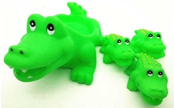 """Игрушки для купания """"Мама и детки"""" Крокодилы"""