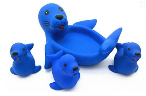 """Игрушки для купания """"Мама и детки"""" Тюлени"""