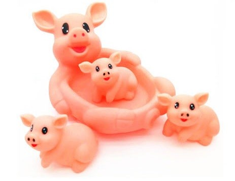 """Игрушки для купания """"Мама и детки"""" Свинки"""