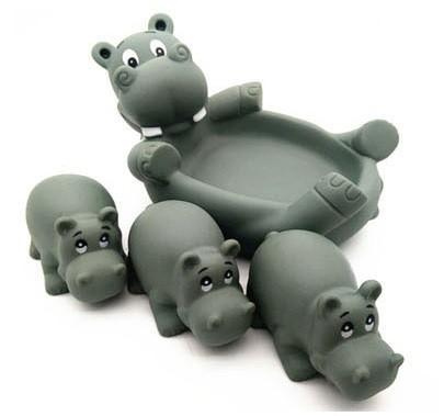 """Игрушки для купания """"Мама и детки"""" Бегемотики"""