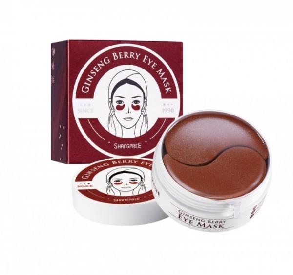 Shangpree Ginseng Berry Eye Mask Гидрогелевые патчи для глаз с экстрактом женьшеня, 60шт