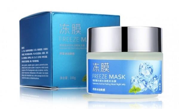 Охлаждающая ночная маска-желе для лица с экстрактом мяты и гиалуроновой кислотой Bioaqua Freeze Mask, 100 гр