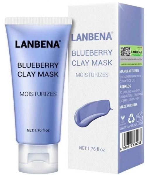 Lanbena Blueberry Clay Mask Увлажняющая маска для лица, 50 гр
