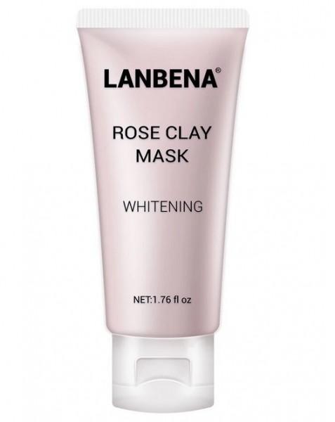 Lanbena Rose Clay Face Mask Маска для лица отбеливающая, 50 гр