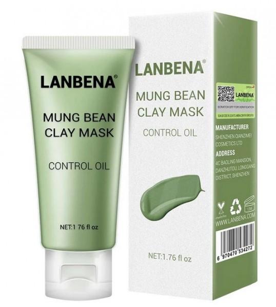 Lanbena Mung Bean Clay Face Mask Маска для лица от угревой сыпи, 50 гр