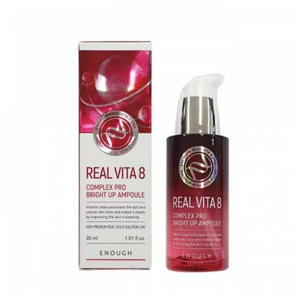 Enough Real Vita 8 Complex Pro Bright Up Ampoule Сыворотка для выравнивания тона с витаминами, 30 мл