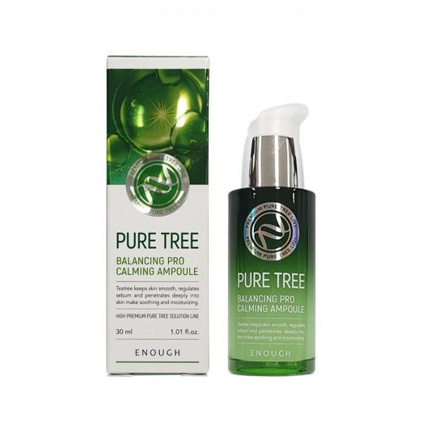Enough Pure Tree Balancing Pro Calming Ampoule Успокаивающая сыворотка с экстрактом чайного дерева, 30 мл