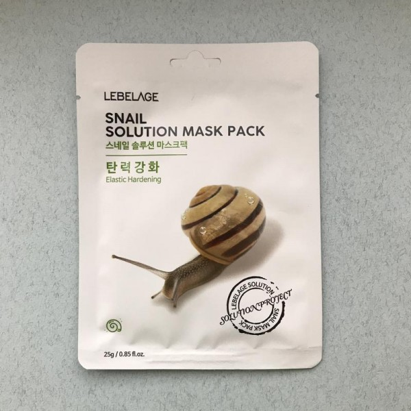 Lebelage Snail Solution Mask Pack Тканевая маска с экстрактом муцина