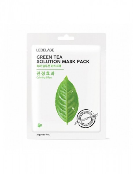 Lebelage Green Tea Solution Mask Pack Тканевая маска с экстрактом зеленого чая