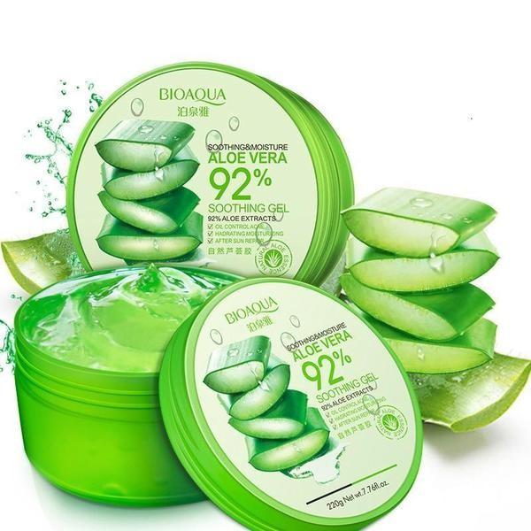 Bioaqua Aloe Vera Soothing Gel 92% Универсальный гель для лица с алоэ вера, 220 гр