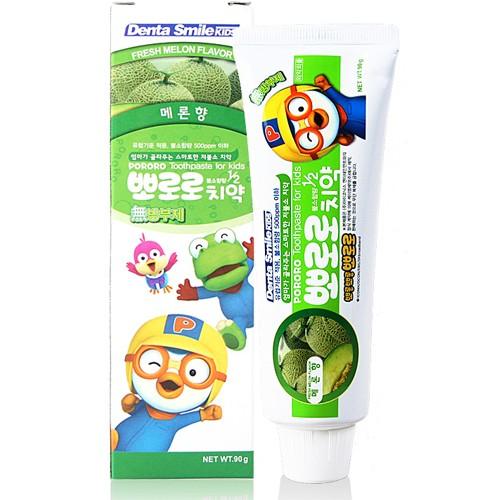 Детская зубная паста с ароматом дыни Pororo Children's Toothpaste Melon, 90 гр