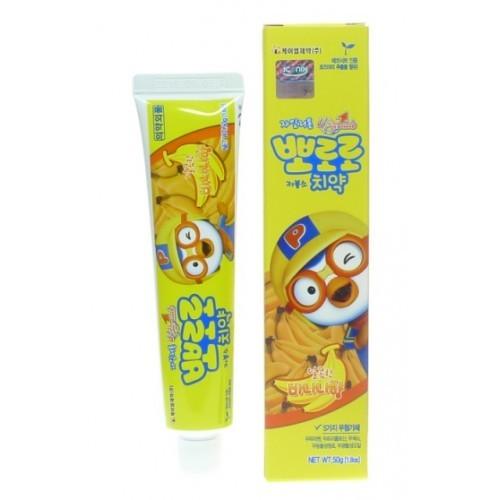 Детская зубная паста с ароматом банана Pororo Toothpaste Banana, 50 гр