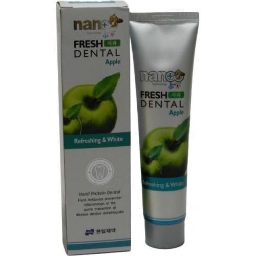 Зубная паста с ионами серебра и натуральными экстрактами фруктов Яблоко Nano Fresh Dental