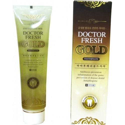 Зубная паста Doctor Fresh Gold с нано частицами золота, 200 г
