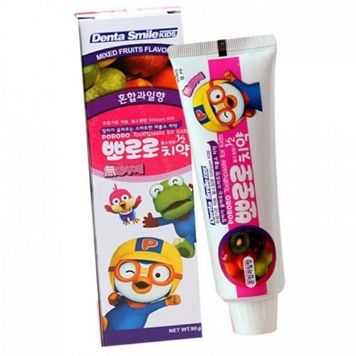 Детская зубная паста с ароматом тропических фруктов Pororo Children's Toothpaste Mixed Fruit, 90 гр