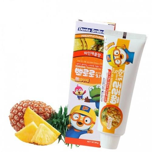 Детская зубная паста с ароматом ананаса Pororo Toothpaste For Kids Pineapple, 80 мл