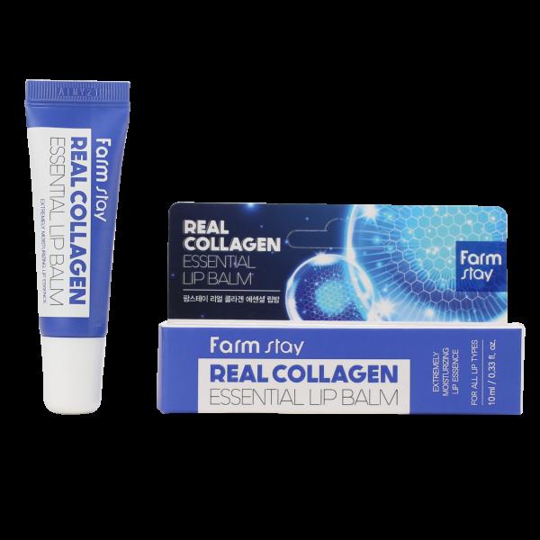 FarmStay Real Collagen Essential Lip Balm Суперувлажняющий бальзам для губ с коллагеном, 10мл