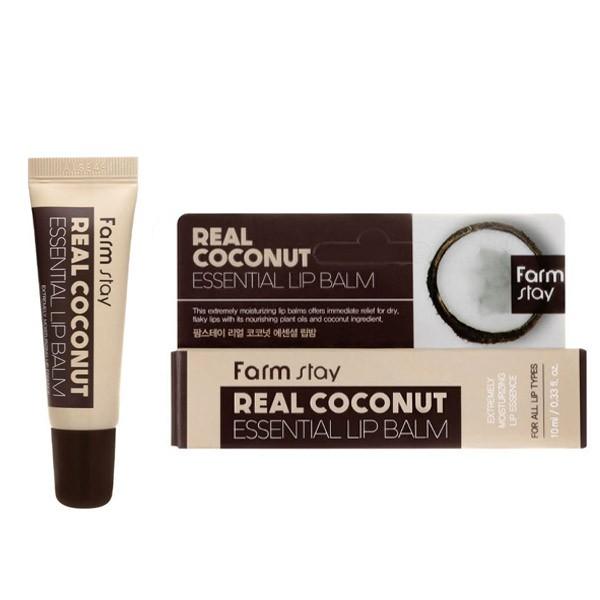 FarmStay Real Coconut Essential Lip Balm Бальзам для губ с маслом кокоса, 10 мл