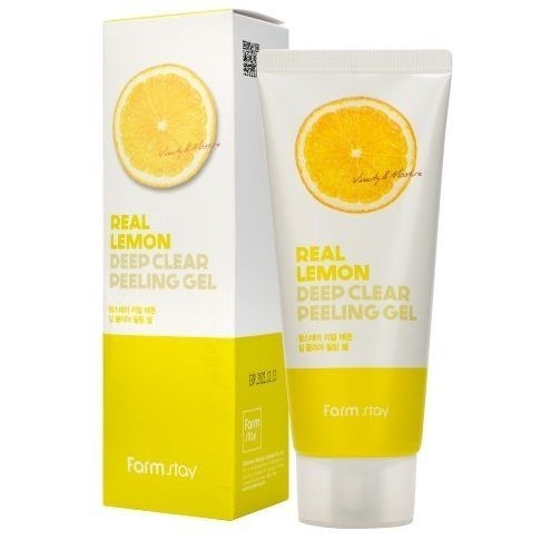 FarmStay Real Lemon Deep Clear Peeling Gel Пилинг-гель с экстрактом лимона, 100 мл