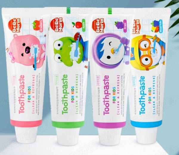 Детская зубная паста с ароматом винограда Pororo Toothpaste For Kids Clean&Refresh Grape, 80 мл