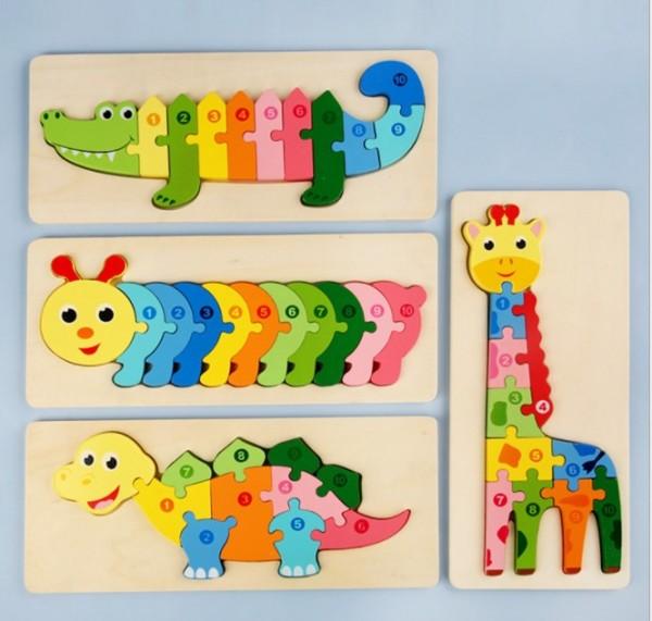 Детский 3D пазл Крокодил
