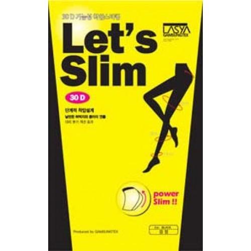 Корейские колготки Lets Slim Черный 30Д