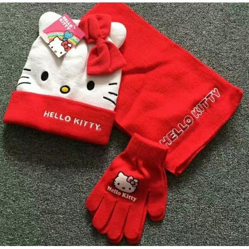 """Шапка+Шарф+Перчатки """"Hello Kitty"""""""